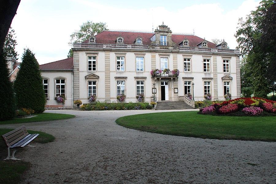 Town hall of  Bourbonne-les-Bains, France.
