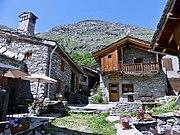 Maisons en pierre et en bois à Bonneval-sur-Arc en Haute-Maurienne