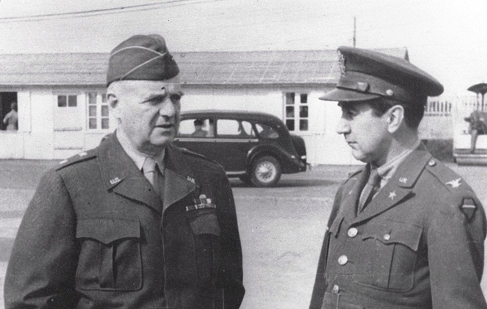 Maj Gen William J 'Wild Bill' Donovan, Director, OSS and Colonel William Harding Jackson (ca 1945)