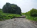 Make shift road block on the footpath to Black Dad - geograph.org.uk - 814910.jpg