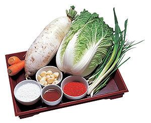 Kimchi - Basic ingredients for kimchi