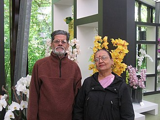 Malay Roy Choudhury - Malay with his wife, Shalila, in The Hague in 2009.