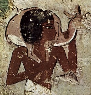 TT69 - Detail of painting in the tomb