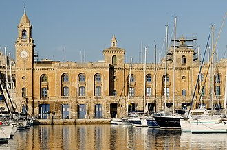 The Royal Naval Bakery in Birgu, Malta (1842-45) Malta Maritime Museum from Senglea.jpg