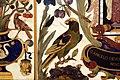 Manifattura fiorentina, paliotto con sant'angelo toma, cartiglio, fiori, frutta e animali, in commesso di pietre dure, 1647, 02 pappagallo.jpg