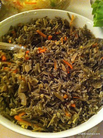 Native American cuisine - Wild rice is a native traditional food of Minnesota, Wisconsin, Michigan, and some areas of North Dakota.