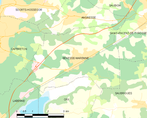 Map commune FR insee code 40036.png