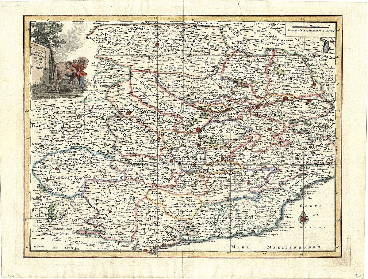 Piemonte Cartina Stradale.File Map Italy Monferrato Cg 37 Carta Geografica Dello Stato Del Piemonte Jpg Wikimedia Commons