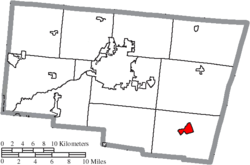 Location of South Charleston in Clark County