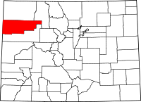 Map of Colorado highlighting Rio Blanco County.svg