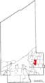 Map of Cuyahoga County Ohio Highlighting Beachwood City.png