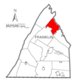 Map of Franklin County, Pennsylvania Highlighting Lurgan Township.PNG