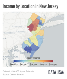 New Jersey Wikipedia - Income heat map us