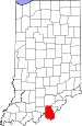 Map of Indiana highlighting Harrison County.svg