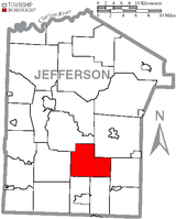 Map of Jefferson County, Pennsylvania Highlighting McAlmont Township