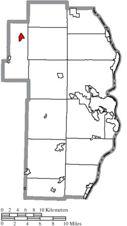 Location of Bergholz in Jefferson County