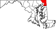 Map of Maryland highlighting Cecil County.svg
