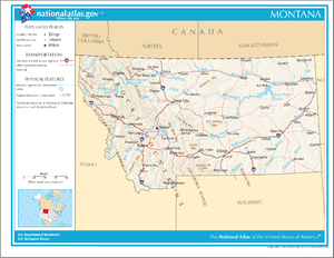 Outline of Montana - An enlargeable map of the State of Montana
