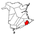 Map of New Brunswick highlighting Albert County 2.png