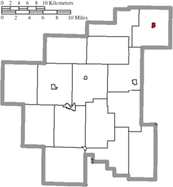 Location of Batesville in Noble County