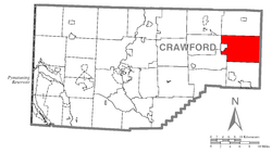 Location of Rome Township in Crawford County