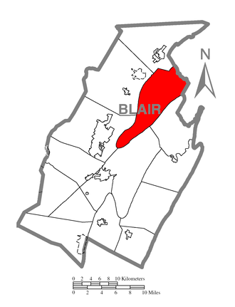 Tyrone Township, Blair County, Pennsylvania - Image: Map of Tyrone Township, Blair County, Pennsylvania Highlighted