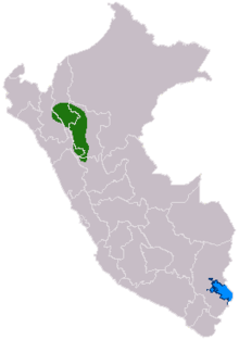 Map showing the extent of the Chachapoya culture
