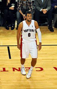 Marco Belinelli con la canotta numero 0 dei Toronto Raptors