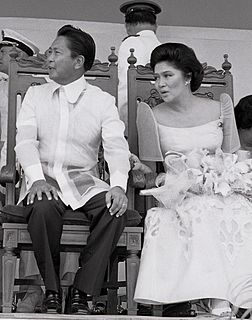 Conjugal dictatorship Unofficial phrase used in the Philippines to refer to Ferdinand Marcos and his wife Imelda