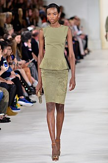 Maria Borges walking the Ralph Lauren Spring/Summer 2015 fashion show