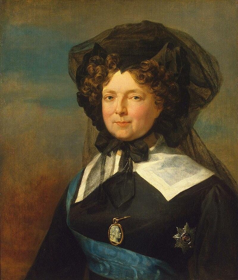 Мария Федоровна в трауре по Г.Даве (ок. 1825, Эрмитаж) .jpg