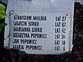 Maria Popowicz lat 6 yo Cemetery of Polish victims of the German Nazi massacre in Sochy from June 1, 1943 Popowicz, Sirko family Mielnik plaque.jpg