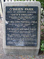 Marker at O'Brien Park, Steve Road and Prescott Street in Memphis, Tennessee.jpg