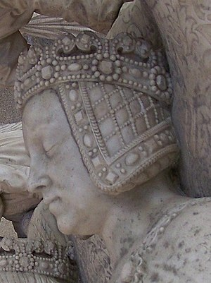 Margaret of Foix - Margaret's face on her tomb in Nantes