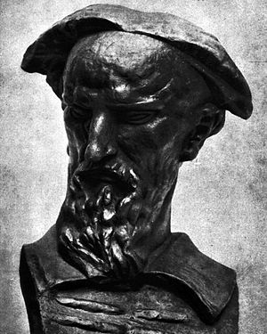 Marko Marulić - Bust of Marko Marulić by Ivan Meštrović in Split.
