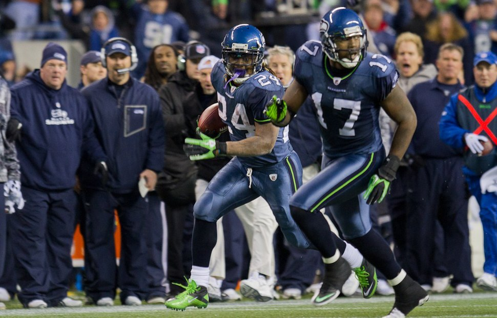 Marshawn Lynch and Mike Williams