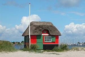 Marstal - Beach hut on Eriks hale near Marstal