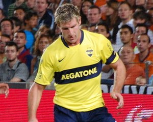 Martín Palermo - Palermo during the 2008 Joan Gamper Trophy match