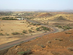 Economy of Eritrea - The Massawa-Asmara Highway, built as part of the Wefri Warsay Yika'alo program.