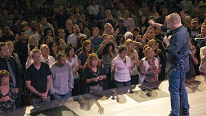 Matthew Barnett - Barnett preaching at a Dream Center service in the Angelus Temple (June 2010)