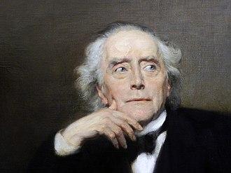 Ernst Curtius - Portrait by Max Koner (detail, 1890)