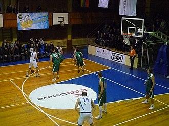 BC Mažeikiai - Mažeikiai in a match versus Rūdupis Prienai in 2010.
