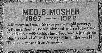 Inglewood Park Cemetery - Mosher grave marker