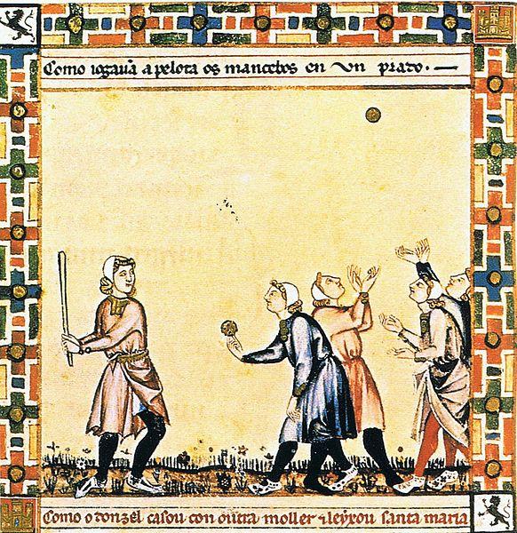 File:Medieval baseball (El juego de la Pelota) in the Cantigas de Santa Maria.jpg