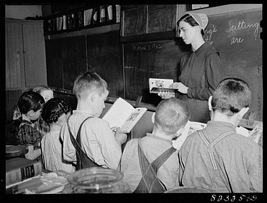 Mennonite Classroom Pennsylvania 1942