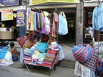 "Black market - Mercado Negro, so called ""Black Market"", in La Paz, Bolivia."