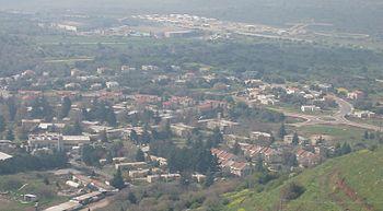 Kibbutz Merom Golan as seen from Bental mountain