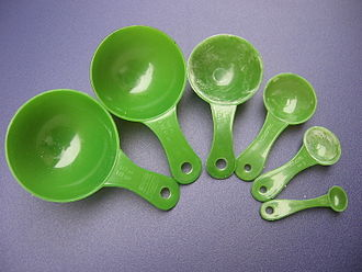 Cooking weights and measures - Measuring spoons (metric) - 2.5 mL, 5 mL, 15 mL, 50 mL, 100 mL, 125 mL