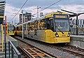 Metrolink units, Deansgate-Castlefield tram stop (geograph 4531885) (cropped).jpg