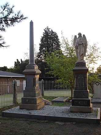 Alberton, Gauteng - Org Meyer's Grave